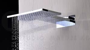 Design Regendusche Regenbrause Quadro Eckig Mit Wasserfall 2 In 1 Edelstahl Verchromt 55x36cm