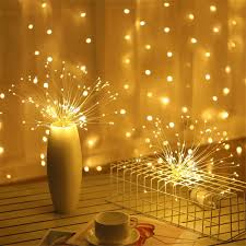 Battery Operated Hanging String Lights Us 7 76 32 Off Hanging Led String Lights Diy Firework Copper Fairy Lights Outdoor Battery Operated Garland Christmas Decoration Party Wedding On