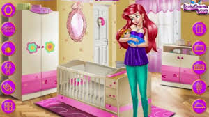 ariel baby room decoration play the girl game online