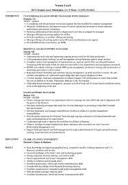 Sales Support Manager Resume Samples Velvet Jobs