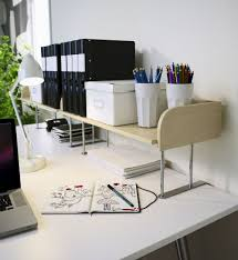 office space organization ideas. let ikea and a raised desktop shelf like galant give you hand this would come in handy for keeping the work space organized office organization ideas