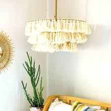 chandeliers gold foil chandelier fringe dining room metallic
