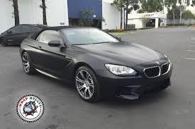 BMW Convertible custom m6 bmw : BMW M6 Satin Black Car Wrap   Wrap Bullys