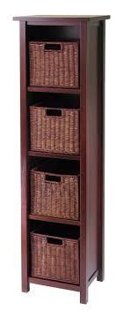 Wicker Basket Cabinet 94411 Milan 5pc Storage Shelf With Baskets Cajpg