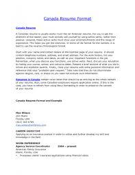 Format Of Resume In Canada Sample Resume Canada Format Gallery Creawizard 10
