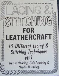 books lacing stitching for leather