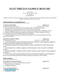 Apprentice Sample Resumes Amazing Electrician Apprentice Resume Examples Resume