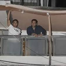 Salman Khan On The Balcony Of His 1st Floor Galaxy Apartments Home.
