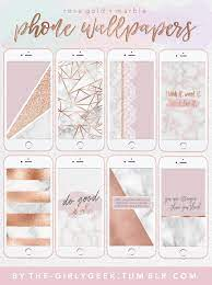 Lock Screen Girly Rose Gold Marble ...