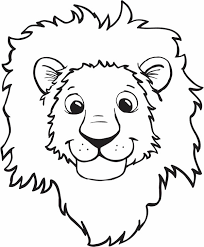 Small Picture Lion Smiling Face Coloring Page Color Luna