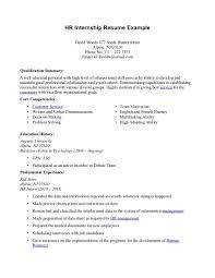 Example Internship Resume
