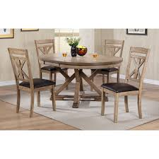 Winners Only Round Dining Table With 18 In Butterfly Leaf Walmartcom