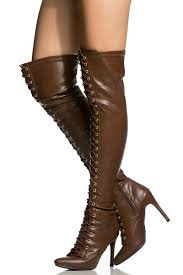 tan faux leather lace up thigh high boots cicihot boots catalog women s winter boots leather thigh