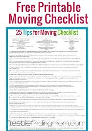 Moving Checklist Template Awesome 48 Tips For Moving Successfully And With Sanity Free Printable