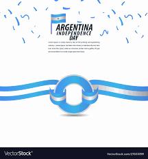 Argentina Banner Design Happy Argentina Independence Day Celebration