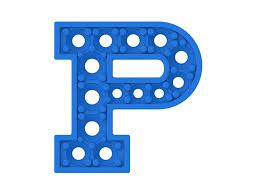 letter p 3d model stl 3dm 3