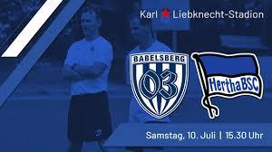 V., commonly known as hertha bsc (german pronunciation: Ein Hauch Von Bundesliga Im Karli Testspiel Babelsberg 03 Vs Hertha Bsc Babelsberg 03