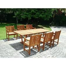 outdoor 7 piece wicker dining set coastal white dark roast southwest amber patio glass top