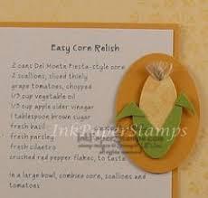 paper punch art ear of corn carolyn myers sbook recipe pages easy teriyaki kabobs sbook recipe book