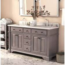 double sink with vanity in middle. casanova 60-inch double sink vanity with backsplash in middle