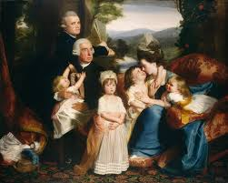 having moved separately from colonial boston to london the recently reunited copleys posed for this large group likeness the artist s first portrait to