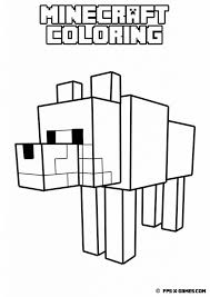 minecraft animal coloring pages get printable colouring fascinating kids