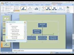 Microsoft Office Org Chart Tool Powerpoint 2007 Tutorial 12 Create Organization Chart With