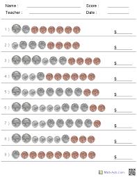 Custom Counting Coins Kindergarten Worksheets | Kindergarten ...