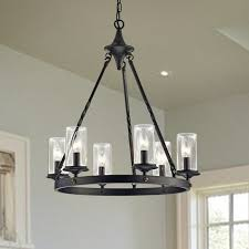 chifdale 6 light candle style chandelier hanging light fixtures for kitchen