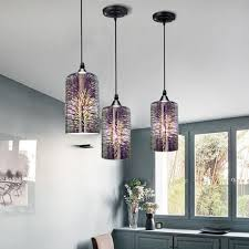 Creative <b>Glass Pendant</b> Light Electroplate 3D Firework <b>Hanging</b> ...
