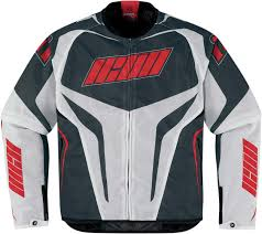 icon hooligan street jacket jackets textile black white red icon leather gloves