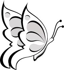 Blank Butterfly Clip Art At Clkercom Vector Clip Art Online Outline