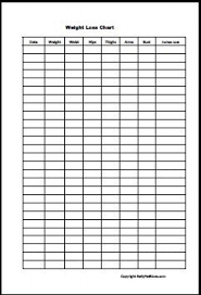 Weight Loss Record Sheet Pin On Weight Charts
