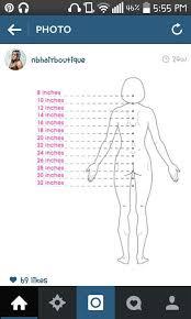 18 Inch Hair Chart Weave Length Chart In 2019 Weave Length Chart Hair Length