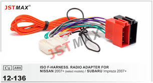 jstmax car dvd radio stereo iso cable adapter for nissan 2007 EH90 Subaru Engine Wiring Diagrams jstmax car dvd radio stereo iso cable adapter for nissan 2007 for subaru impreza
