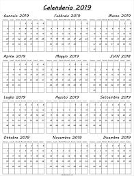 Calendario 2019 Da Stampare Mensile Calendario 2019 Colorato