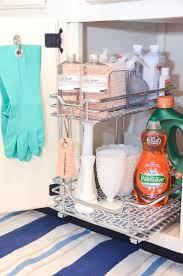 organize under sink storage