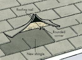 how to repair roof shingles. Interesting Shingles Round The Corners Of New Shingle And Slide It Up Into Gap On How To Repair Roof Shingles H