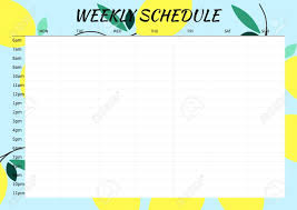 Cute Style Weekly Planner Template For 2016 Vector Illustration