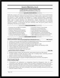 Resume Sample Principal Resume
