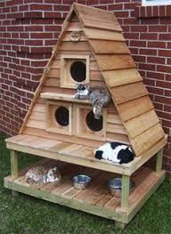 ideas about Cat Houses on Pinterest   Cat Trees  Outdoor    Top Genius DIY Outdoor Pallet Furniture Designs That Will Amaze You