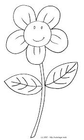 Coloriage Une Fleur Tr S Souriante