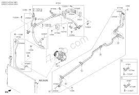 A c system cooler line 03 04 kia carnival sedona 14 2014