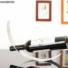 Bar Accessories And Decor Crescent Red Wine Rack Stainless Steel Wine Holder Home Office Bar 50
