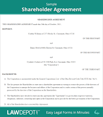 Shareholder Agreement Shareholder Agreement Form US LawDepot 1