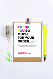 Business Thank You Cards Instant Download Brightly Bold Multi