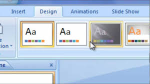 Design For Powerpoint 2007 How To Change The Microsoft Powerpoint 2007 Designs Youtube