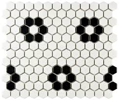 retro black white bathroom floor options for your pastel renovation flower black hex tile options for y
