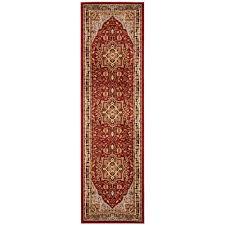 safavieh lyndhurst red black 2 ft x 12 ft runner rug