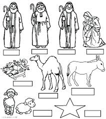 Nativity Coloring Pages Free Nativity Coloring Page Nativity